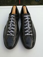 VERO CUOIO Milord, Mens 100% Leather, Black Lace-up Sneaker Trainers UK 8 (42).