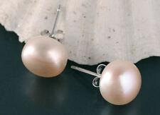 Zucht-Perlen Ohrstecker Feinste Lüster 925 Silber Stecker ca. 10mm Rose P045