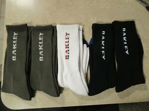 New 5 pack Oakley socks Size L  Mens 10-13 Womens 7-10 multi color