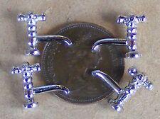 1:12 Échelle Set 4 Argent Métal Robinets Tumdee Poupées Maison Accessoire 697