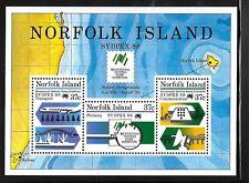 NORFOLK ISL. Sc 439A NH SOUVENIR SHEET of 1988 - COMMUNICATION