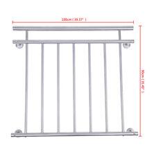 Französischer Balkon Geländer Stabgeländer Balkongeländer 100x90cm Fenstergitter