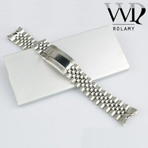 20mm 316L Steel Watch Band Jubilee Oyster Clasp For Submariner GMT Master II