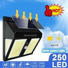 Outdoor Solar Power Lights PIR Motion Sensor Garden Wall Lamp Waterproof 250 LED