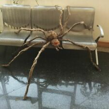 Creepy Hairy Spider Halloween Haunted House Props Led Eyes Decorations Giant New