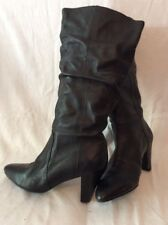 Shellys Black Knee High Leather Boots Size 39