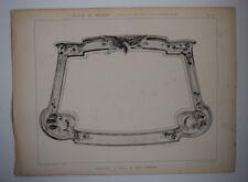 JEAN CHERRIER Glaces Miroirs EMILE THEZARD Gravure ART NOUVEAU Dourdan 1902
