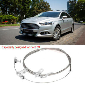 For Ford C4 Stainless Steel Braided Transmission Kick Down Cable Assembly Detent