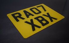 Single Square Rear 11x8 Standard road legal Number Plate 100% MOT Compliant