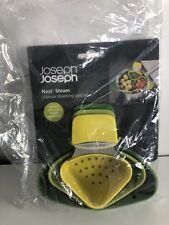 Joseph Joseph Nest Steam 3 Piece Steaming Pod Set Style 40083 Green / Yellow