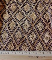"Antique African (Congo) Tribal Kuba Cloth Fabric~Handwoven Ethnic Design~16""Sq"