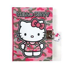 Sanrio Hello Kitty Secret Locking Diary : Pink Camouflage