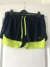 MENS NAVY BLUE RUNNING/ CYCLING SHORTS WITH STRETCH INNER BY CHAMPION SIZE XL/TG
