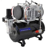 PRO Powerful Twin Cylinder Piston AIRBRUSH AIR COMPRESSOR w/ TANK Hobby T Shirt