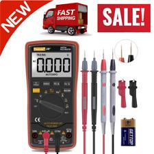 Digital Multimeter Meter Voltmeter Amp Ohm Multi Volt Tester Lead Ac Dc Durable