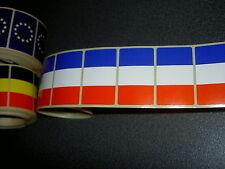100 Drapeaux adhésifs FRANCE 37 x 22 mm, lot mini flags français auto-collants