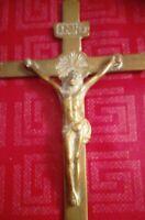 Crocifisso Antico in ottone da parete 17,0 x 8,2 cm  Come da foto 60 gr