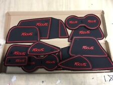 FORD FOCUS 2012 - 2015 INTERIOR DASHBOARD MAT GATE PAD TRIM SET - RED ONLY