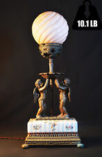 figural lamp Victorian 19th century Unique vintage rare Antique bronze porcelain