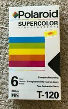POLAROID Supercolor VIDEO CASSETTE VHS Tapes Blank ~ T-120 ~ NEWSEALED