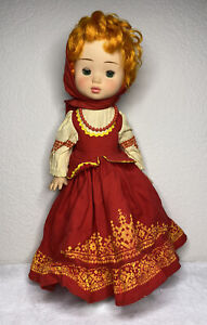 Vintage Russian Doll Soviet Era Traditional Dress **See Photos / Descriptions**