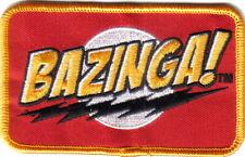 """The Big Bang Theory TV Series Bazinga! Name Logo Embroidered 4""""x 2.5"""""""