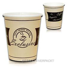 1000 Kaffeebecher EXCLUSIVE 0,2l Coffee to go Becher Hartpapierbecher Pappb. +