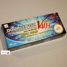 10 x Double Fish 3-star V40+ ABS Balls White ITTF Approved for Competition