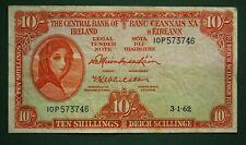 1962 Irish 10 shilling EIRE note Lady Lavery Central Bank of Ireland *[16469]