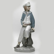 Vintage Retired Lladro - Boy With Yacht - Limited Edition - Historical Catalog