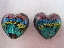 Glass Heart Jewellery Making Beads
