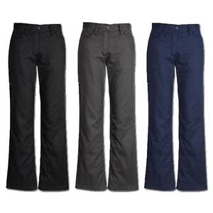 Ladies Cotton Drill Utility Work Pants Womens Welt Pocket Size 8 - 24 New ZWL002