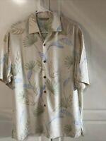 Tommy Bahama Beach Hawaiian Floral Camp Silk Shirt Men's Size XL SILK-RAYON