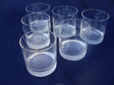 Wheaton Fine Glass Executive Pattern 6 Rock Old Fashioned Glasses. 11 Oz