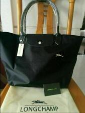 New Longchamp Le Pliage Tote Bag Nylon Shopping Handbag BLACK SIZE L
