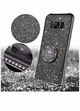 Ocyclone Diamond Black Case For Samsung S8  Cover With Ring Stand
