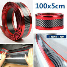 Car Sticker Carbon Fiber Red Rubber Door Sill Protector Edge Guard Strip 5CM 1M