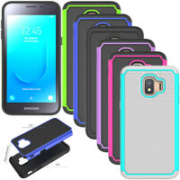 Shockproof Hybrid Rugged Hard Rubber Case Cover For Samsung Galaxy J2 Core 2018