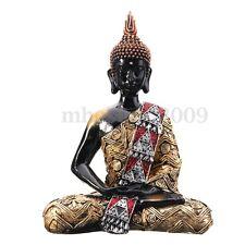 "11"" Thai Buddha Meditating Peace Harmony Sitting  Statue Decoration Crafts"