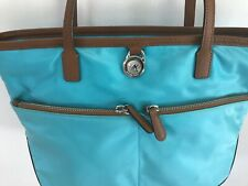 Michael Kors Kempton Nylon Tote Purse Shoulder Bag Aquamarine