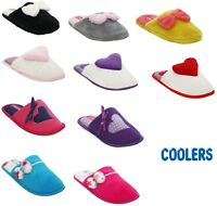 WOMENS LADIES COOLERS SOFT WARM COMFY COSY KITCHEN FLAT MULE SLIPPERS SIZE UK3-8