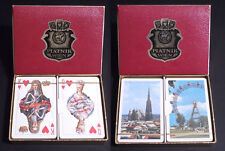 PIATNIK VINTAGE PLAYING CARDS  - 2 MAZZI CARTE DA GIOCO - CARLO XII di SVEZIA
