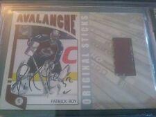 Patrick Roy 2004-05 ITG Franchises Stick Auto /10 BGS 9.5/10 Avalanche