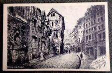 CPA. ROUEN. Rue St Romain. Illustrateur A.GOULON. Dessin à la plume.