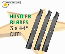 "3 x BLADES To suit  selected 44"" HUSTLER ZERO TURN MOWERS"
