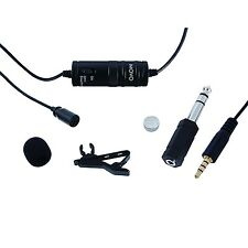 Movo LV1 Lavalier Clip-on Omni Microphone for iPhone iPad iOS Android Smartphone