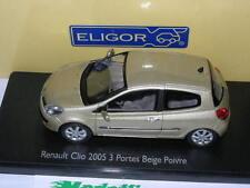Eligor 1 43 100984 Renault Clio 3 portes 2005 Beige Poivre