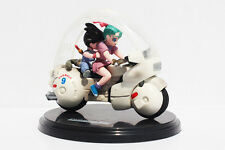 ACTION FIGURE TOY STATUE DRAGON BALL Z GT GOKU AND BULMA MOTORCYCLE 10CM 4INCH