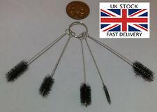 5pcs Round Pipe Bore Tube Cylinder Cleaning Brushes-UK STOCK-FREE P&P