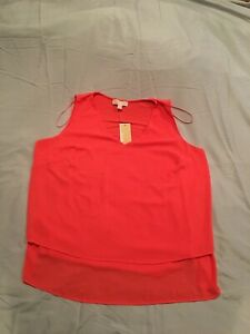 Women's Michael Kors V-Neck Tank, Sleeveless Size 2X, NWT! $68.00! Corral Peach!